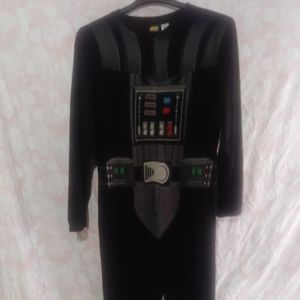 Adult Darth Vader onesie pajamas with cape